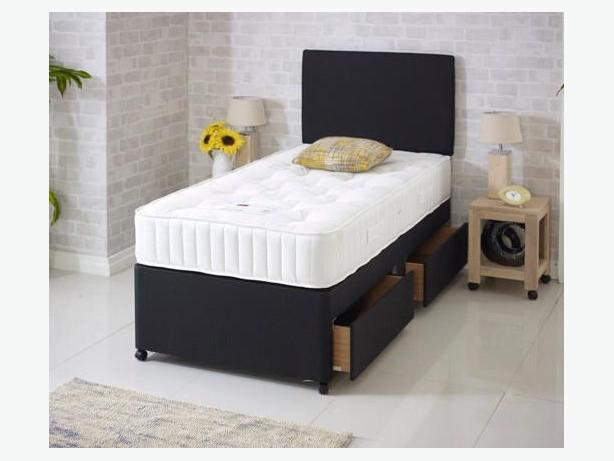 BRANDNEW QUALITY RANGE COMPLETE SINGLE DIVAN BED