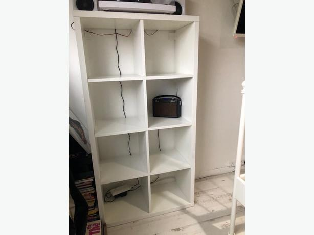 white ikea storage unit bookcase