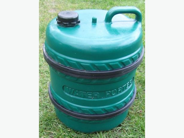 water barrel and water carrier