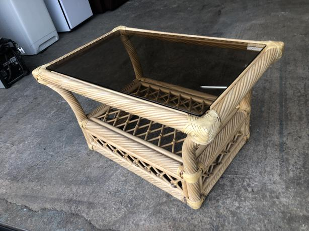 BAMBOO & CANE COFFEE TABLE (3ft) ~~ EXCELLENT CONDITION ~~ WE DELIVER