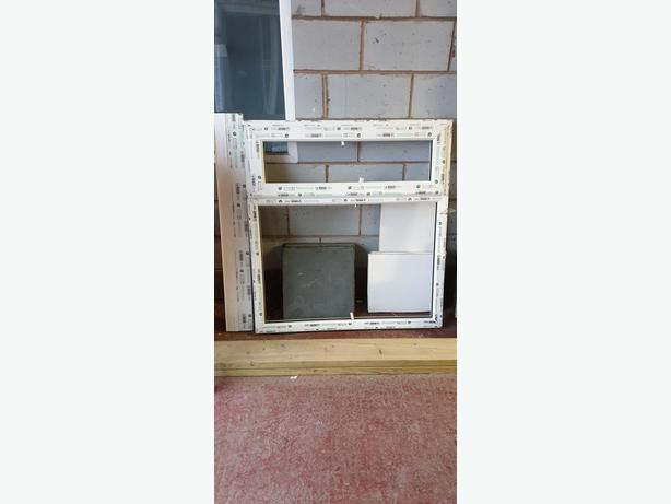 brand new white  window with glass