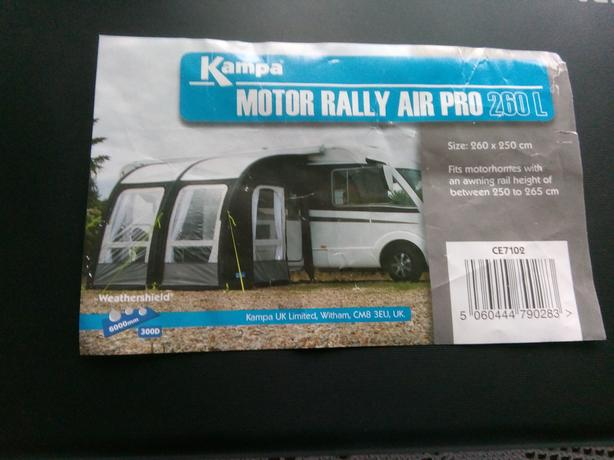 KAMPA AIR PRO 26OL MOTORHOME AWNING WITH ANNEX AND OTHER ITEMS