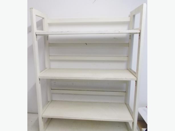 Foldable White Display Shelf