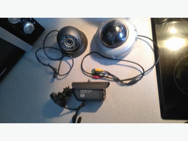 3 cctv cameras hd