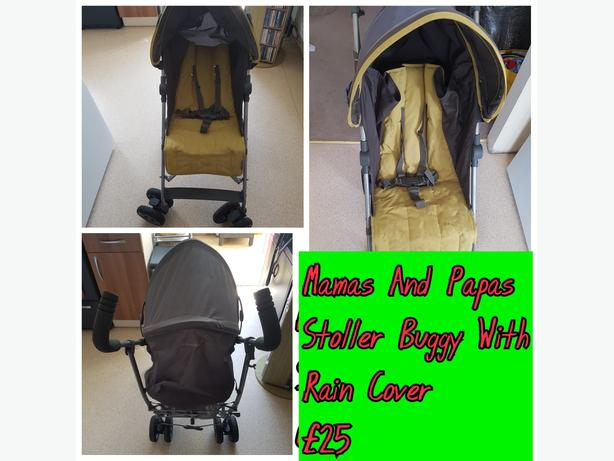 Mamas And Papas Stroller Buggy With Rain Cover