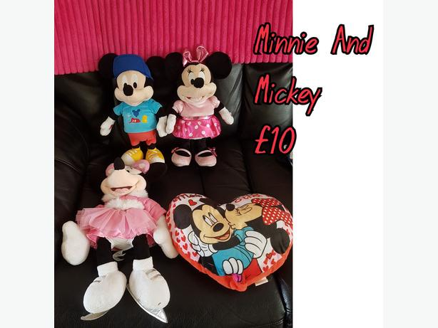 Minnie And Mickey Mouse Teddy And Toys