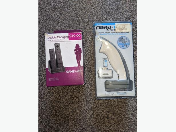 BRAND NEW wii charging dock and cord free adapter