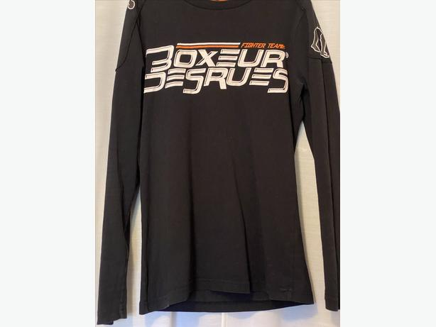 Boxeur Des Rues Long Sleeved Black T-Shirt aged 14
