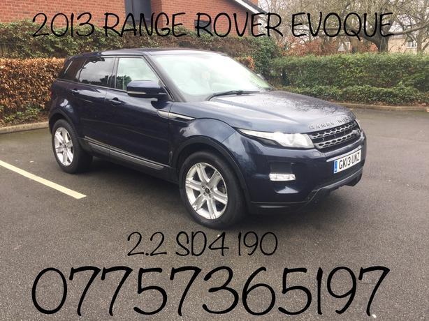 2013 RANGE ROVER EVOQUE PURE SD4 2.2 AUTO BLUE MOT MARCH 2020