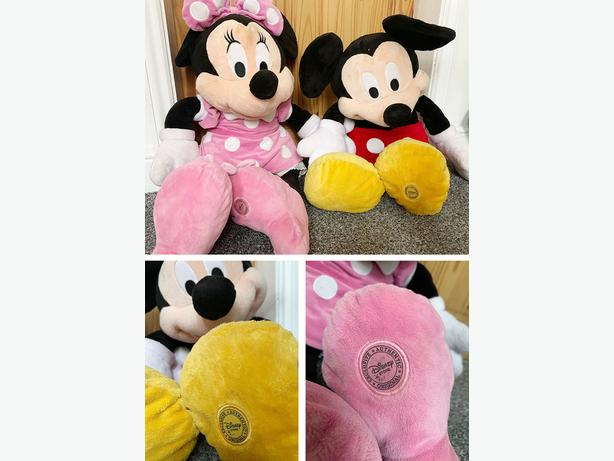 Disney Mickey and Minnie Large Cuddly soft toys (Great Condition)
