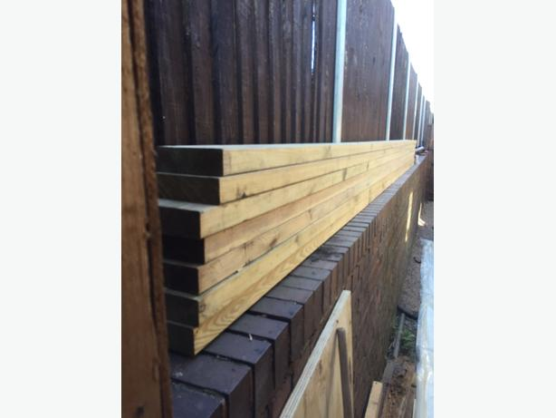 """treated timber 6""""x2"""" x7 lengths 4.8 metres"""