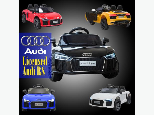 Licensed Audi R8 Spyder 12V Children's Electric Ride On Car 1-4 yr