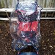 Pushchair with rain cover