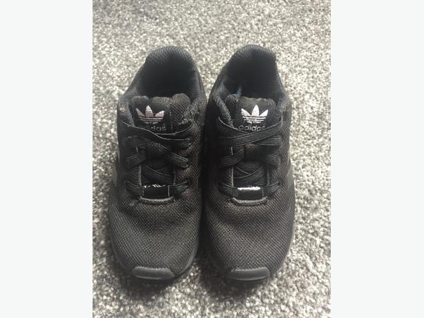 Children's Black Adidas Trainers - Size 8