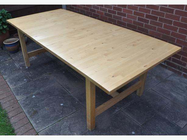 For Sale: IKEA Norden Large Solid Wood Extendable Dining Table
