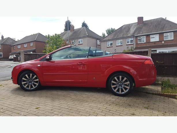 ford focus cc convertable twintop 07 reg red