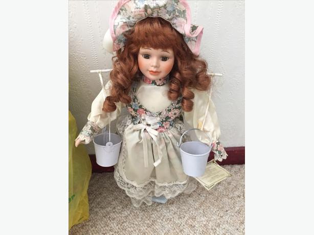 8 porcelain dolls