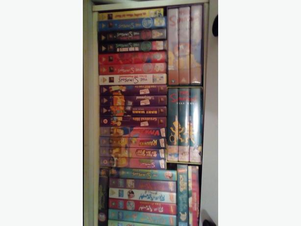 VHS CASSETTES THE SIMPSONS
