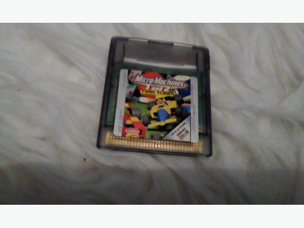 Gameboy colour micro machines game