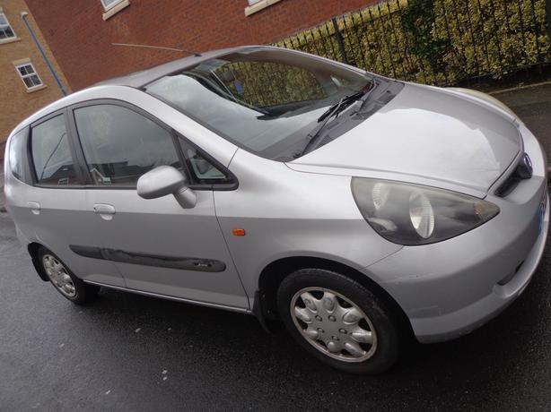 honda jazz 1.3+5 door+mot jan+tax+geniune 83k miles+DRIVAWAY OR DELIVERY