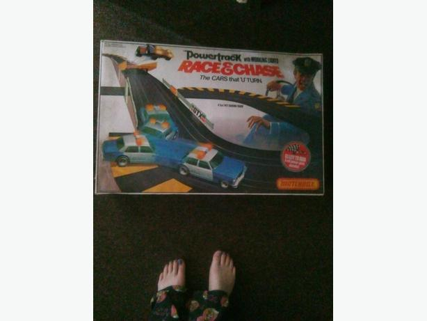 matchbox race and chase car track boxed