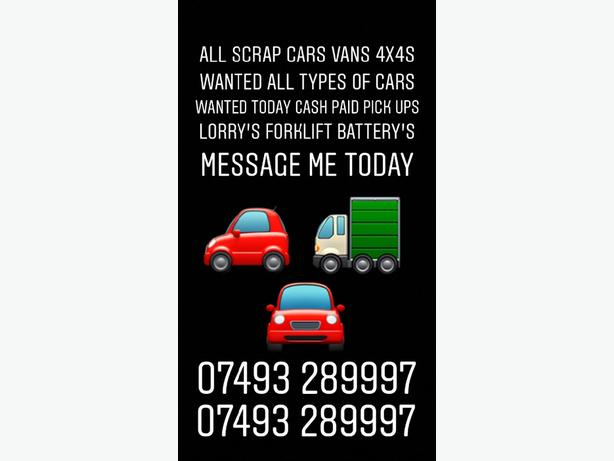 WANTED: FREE: WANTED SCRAP CARS AND VANS 4x4