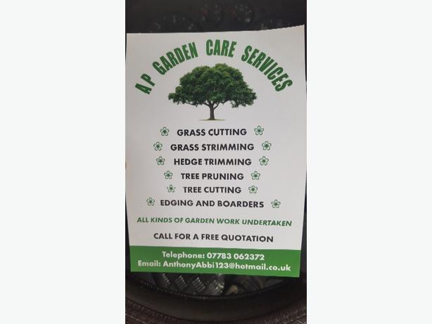FOR TRADE: ap garden care services