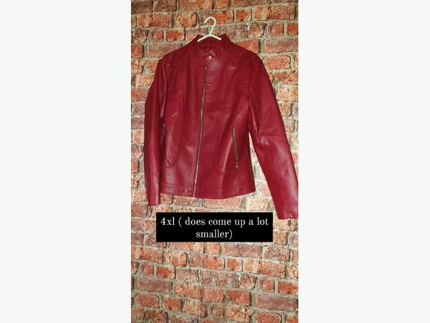 BRAND NEW * WOMENS FAUX LEATHER JACKET