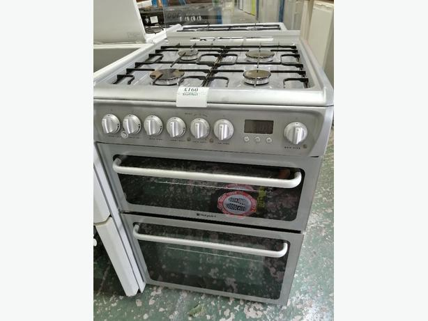 Hotpoint Duel Fuel gas cooker 60 cm with warranty at Recyk