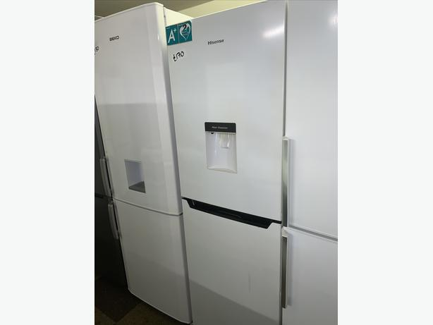 PLANET APPLIANCE - WHITE HISENSE FRIDGE FREEZER WITH WATER DISPENSER