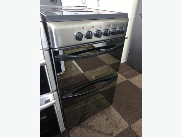 PLANET APPLIANCE - SILVER INDESIT ELECTRIC COOKER WITH WARRANTY