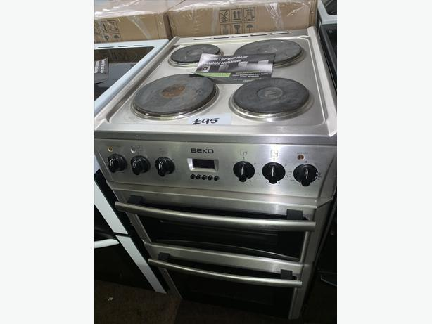 PLANET APPLIANCE - PRICE REDUCED!! - SILVER BEKO ELECTRIC COOKER WITH WARRANTY
