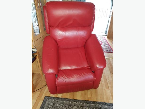 real leather electric rise and recline chair