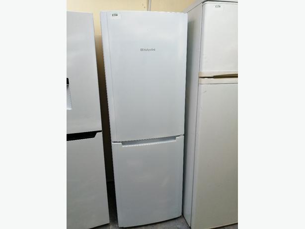 Hotpoint fridge freezer white 3 months warranty at Recyk Appliances