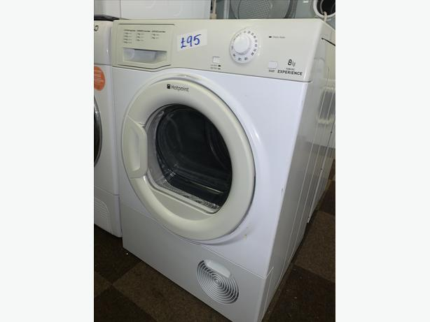 PLANET APPLIANCE - 8KG LOAD WHITE HOTPOINT DRYER COMES WITH WARRANTY