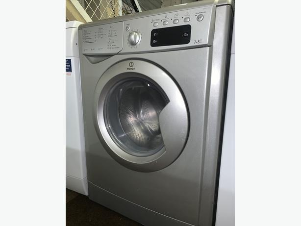 PLANET APPLIANCE - 7+5KG SILVER INDESIT WASHER WASHING MACHINE AND DRYER