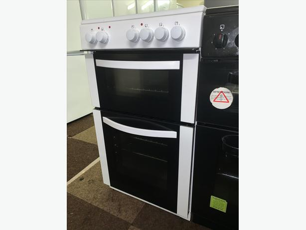 PLANET APPLIANCE - 50CM WHITE LOGIK ELECTRIC COOKER WITH WARRANTY