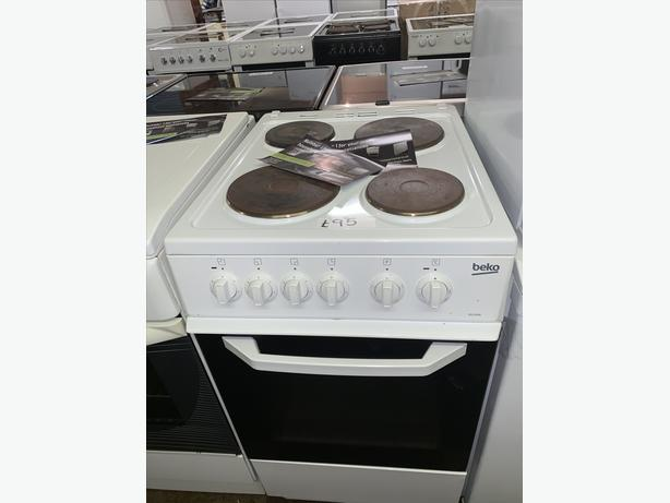 PLANET APPLIANCE - 50CM WHITE BEKO ELECTRIC COOKER