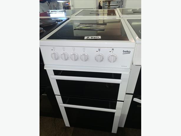 PLANET APPLIANCE - 50CM WHITE BEKO ELECTRIC COOKER W WARRANTY