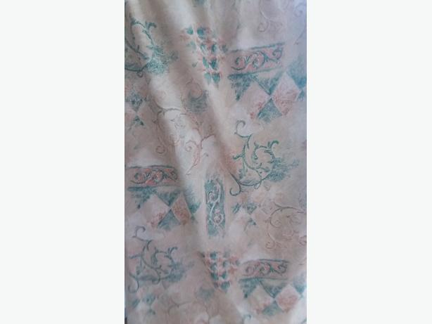 2 Pairs Snowqueen Curtains  Green/Beige