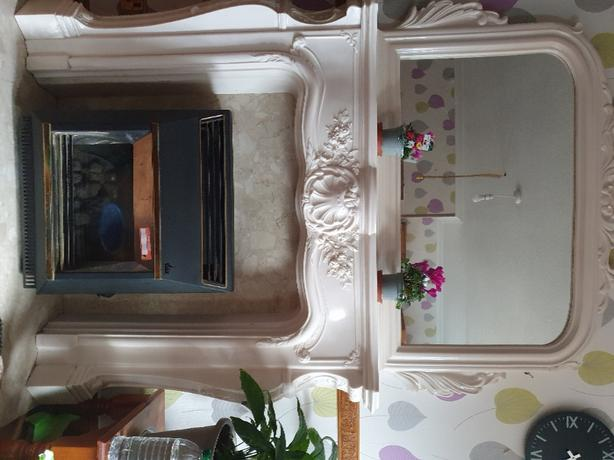 still for sale due to time wasters Marble fireplace and mirror