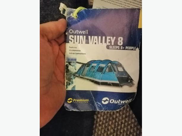 Outwell sun valley 8 man tent - Delivery - £65 -