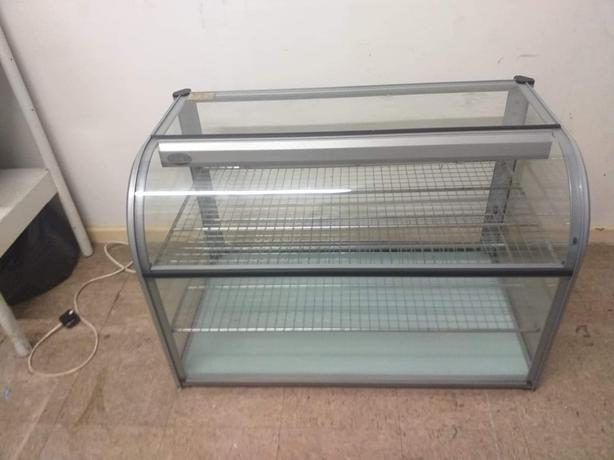 Commercial 2 tier glass display cabinet