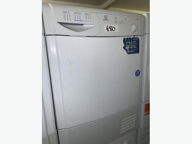 PLANET APPLIANCE - 8KG INDESIT WHITE DRYER WITH WARRANTY