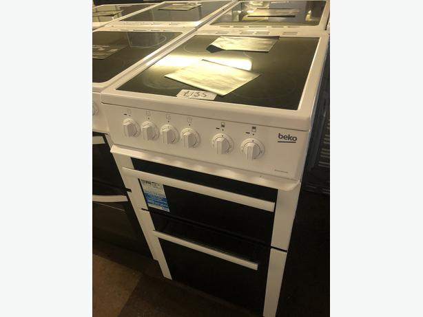 PLANET 🌍 APPLIANCE- WHITE 50CM WIDE ELECTRIC COOKER WITH GUARANTEE