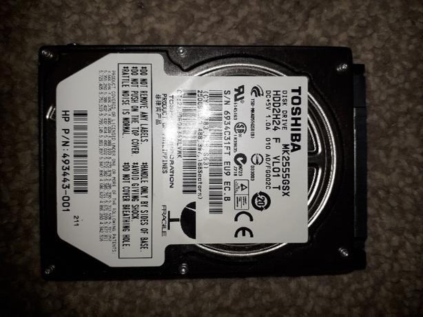 250 gig laptop harddrive