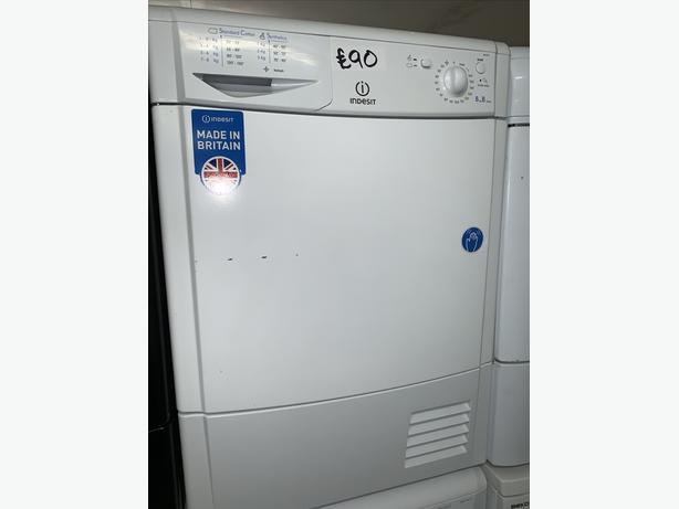 PLANET APPLIANCE - 8KG LOAD WHITE INDESIT CONDENSER DRYER WITH WARRANTY