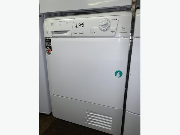 PLANET APPLIANCE - 8KG LOAD HOTPOINT CONDENSER DRYER WITH WARRANTY INCLUDED