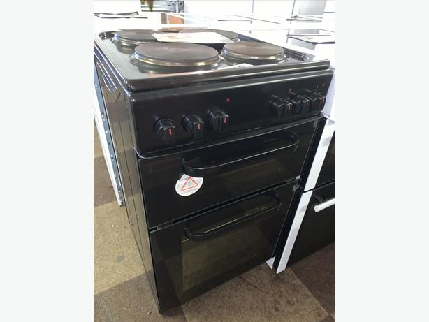 PLANET APPLIANCE - 50CM BLACK ELECTRIC PLATED COOKER
