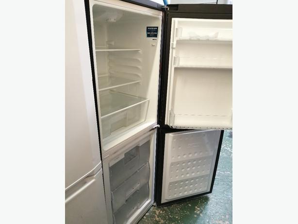 Beko Fridge freezer black with warranty at Recyk Appliances